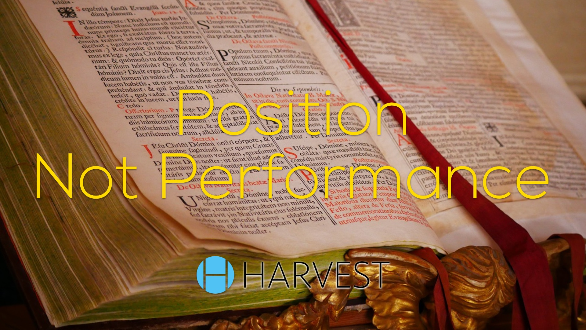 Position Not Performance